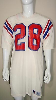 Game Used Worn Team Issued NFL New England Patriots Vintage 80 s 90 s Jersey   28 183616ccc