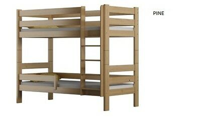 Pine Bunk Bed Solid Pine Wooden, Mattresses & Storage Including High Quality