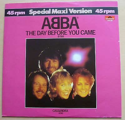 """Abba - The Day Before You Came - 12"""" Vinyl Single"""