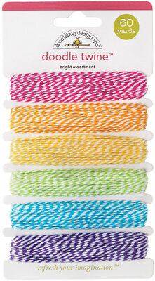 Doodle Twine Assortment Pack 60yd Bright DTW-AST-2983
