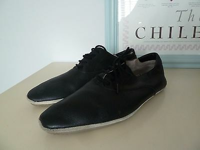Topman Black Leather Lace Up Casual Shoes Size 8 EUR 42