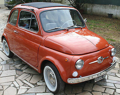 1971 FIAT 500 F coral red - FULLY RESTORED - by ClassicItalianCar.com
