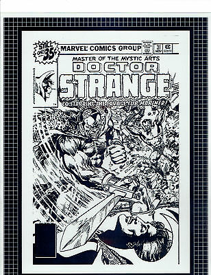 Doctor Strange Cover Art Production Transparencies. Includes Comic. Rare.