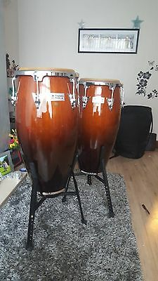 LP Performer Conga & Tumba set - Antique Fade (Comes With Stands  & cases)
