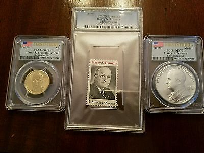 2015 Truman Coin and Chronicles Set PCGS PR 70 MS 70 First Strike