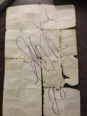 WALKER BROTHERS AUTOGRAPHS 1960s (date not confirmed)