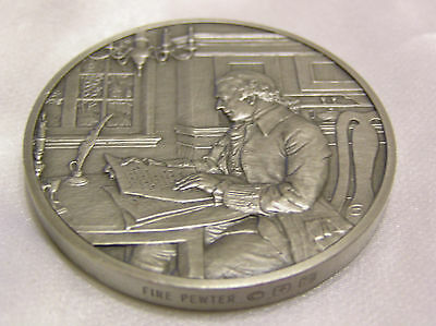 Solid Pewter Medallion 1761 The Official History Of Colonial America Collection