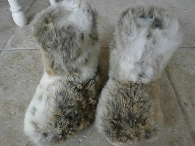 Ladie's River Island Faux Fur Slipper Boots size L
