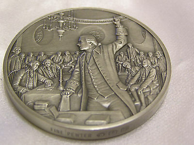 Solid Pewter Medallion 1765 The Official History Of Colonial America Collection