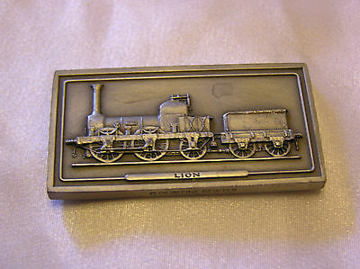 SOLID PEWTER INGOT of the LION LOCOMOTIVE