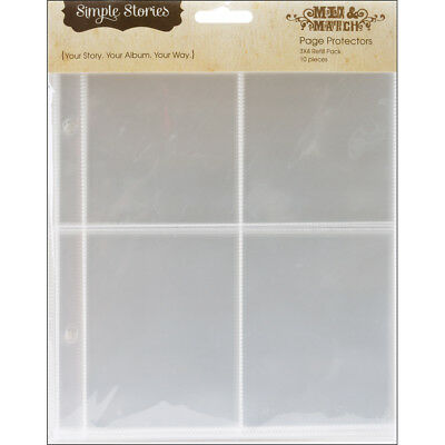 "Sn@p! Pocket Pages For 6""X8"" Binders 10/Pkg 4 3""X4"" Pockets SS2004"