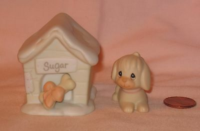 1994 Precious Moments Puppy Sugar And Her Dog House From Sugar Town
