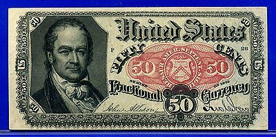 FR1381 Fifth Issue 50 Cent ** About-Uncirculated ** FRACTIONAL** Blue Right End