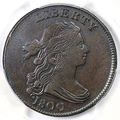 1800 S-199 R-4 PCGS XF Details Draped Bust Large Cent Coin 1c