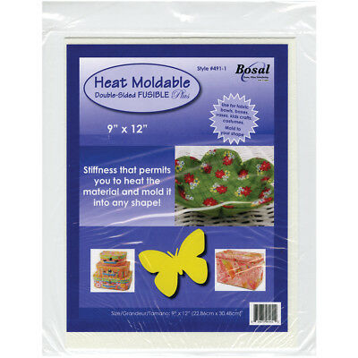 """Heat Moldable Double Sided Fusible Plus 9""""X12"""" 491-1"""
