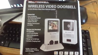 Bell Howell 8553 2 4 GHz Wireless Video Door Intercom System