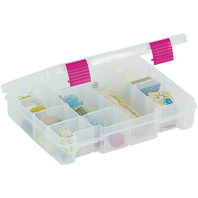 """Creative Options Pro Latch Utility Box 4 16 Compartments 9""""X7""""X2"""" Clear W/Magent"""