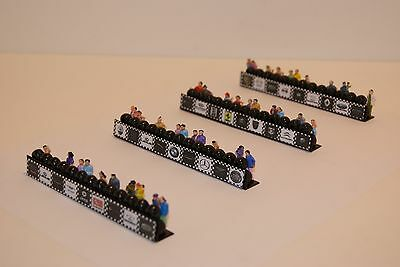 Ho Scale Slot Car Scenery / RACEFAN TIREWALL BARRIERS has 40 PEOPLE for AFX,TYCO