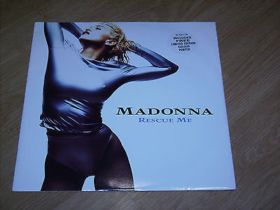 Madonna - Rescue Me - 12 Inch With Limited Edition Poster Mint Condition