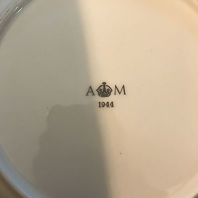 Large RAF Blue/White AM Air Ministry Marked Mess Dinner Plate 1944 Dated