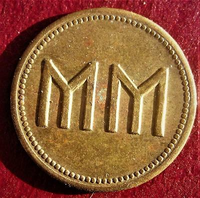 Initials ~ Mm ~ Lucky Charm ~ Two Sided ~ Lucky Token ~ Mm ~ Token ~ Lot Rc