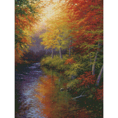 """Reflections Of Autumn Needlepoint Kit 16""""X12"""" Stitched In Floss 30952"""