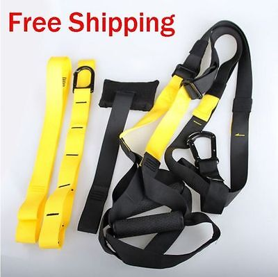 Suspension Rope Crossfit Trainer Fitness Bodyweight Yoga Training Gym Straps