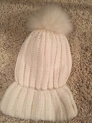 Women's New Cream Beanie Hat  With Tags
