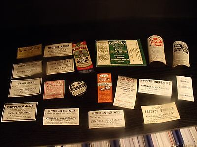 Lot Of Vintage Bottle Labels Medicine Bottle Old Store Stock Never Used