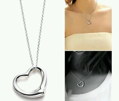 10 silver heart necklaces