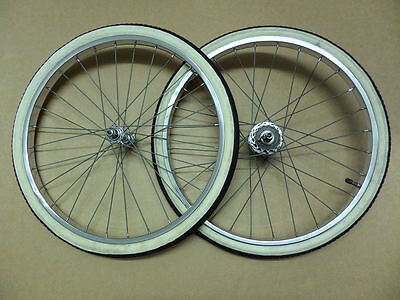 Vintage Raleigh Twenty Shopper Front And Rear Wheels 1977 - Used
