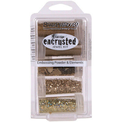 Stampendous Encrusted Jewel Embossing Powder & Elements Gold EJK09