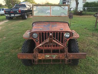 willys jeep 1942 script GPW ford jeep military vehicle classic car barn find