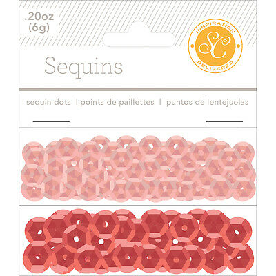 Essentials Sequins 8mm 6g Red & Pink ESS-SEQ-32144