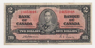 1937 Bank Of Canada $2 Osborne - Towers BC-22a