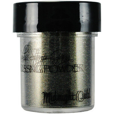 Lindy's Stamp Gang 2 Tone Embossing Powder .5oz Midnight Gold Obsidian LSG-EP-21