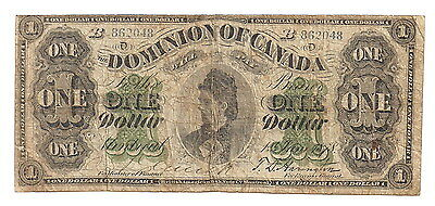 1878 Dominion Of Canada $1 DC8e-ii MONTREAL VARIETY B SERIES
