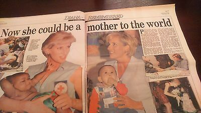 Princess Diana old newspaper tribute Daily Mail - September 1997