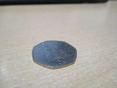 Fifty Pence - 50p - BRITANNIA Coin UK - 1998. Circulated but Very Good Condition