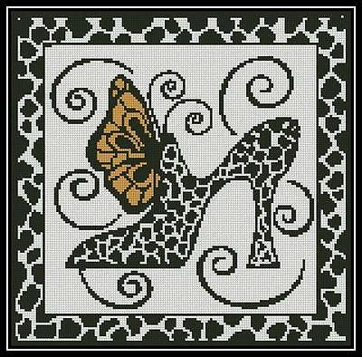 Shoe and Butterfly - Cross Stitch Chart/Pattern/Design/XStitch