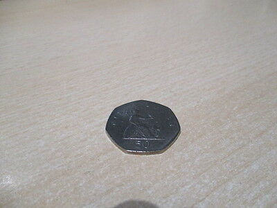 Fifty Pence - 50p - BRITANNIA Coin UK - 1999. Circulated but Very Good Condition