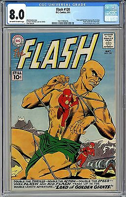 The FLASH #120 CGC 8.0 OW-WHITE PAGES FREE SHIPPING Kid Flash Team-up