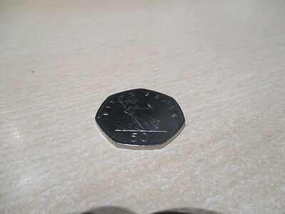 Fifty Pence - 50p - BRITANNIA Coin UK - 2001. Circulated but Very Good Condition