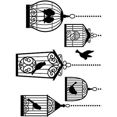 "Embossing Folder 4.25""X5.75"" Birdcages EB12-19101"
