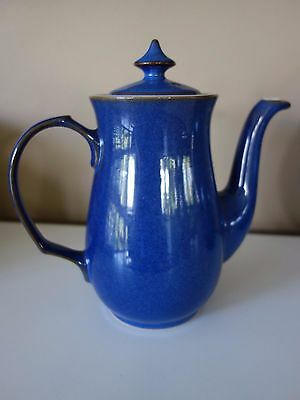 """Country Style """"denby"""" England Pottery Blue Tea/coffee Pot"""