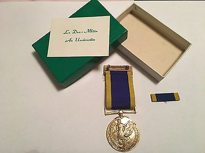 Rare Fault Irish FCA Reserve Army Service Medal And Ribbons Box.....eire defence