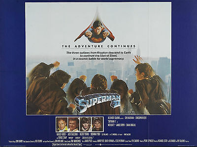 """Superman 2 1980 16"""" x 12"""" Reproduction Movie Poster Photograph"""