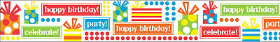 "Party Hardy Ribbon 7/8""X9' Gifts 161762-2"