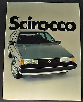 1982 Volkswagen Scirocco Catalog Sales Brochure Excellent Original 82 VW