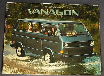 1984 Volkswagen Vanagon Catalog Sales Brochure Camper Excellent Original 84 VW